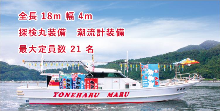 全長8m 幅4m 探検丸装備 潮流計装備 最大定員数21名
